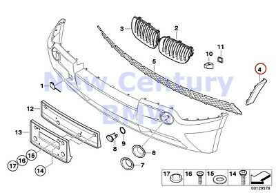 $28.82 • Buy BMW Genuine Mounted Parts Bumper Cover Lateral Right E83