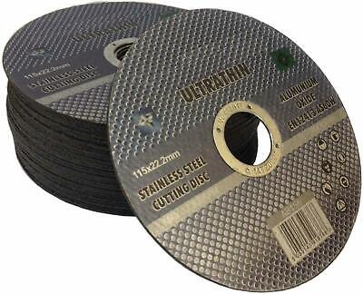 £10.83 • Buy 20x Thin Metal Cutting Discs Lot 115x1mm Profile Stainless Steel Slitting Disks