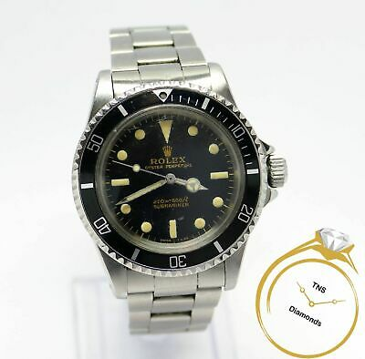 $ CDN38275.75 • Buy Vintage 1966 Rolex Submariner 5513 Gilt Gloss Dial With Video