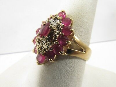 14K Solid Gold Ruby And Diamond Ring Size 8.75 SAVE R554 • 430.15£