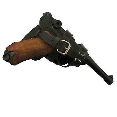 P08 Luger Paratrooper Holster - Brown Leather Q383 • 20.39£