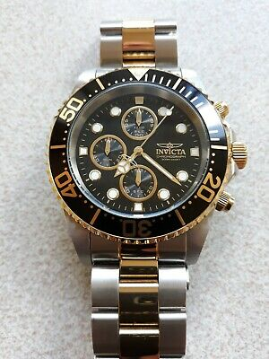 View Details Invicta Mens Divers 200m Chronograph Gold Plated Watch Quartz Boxed/papers. • 36.00£