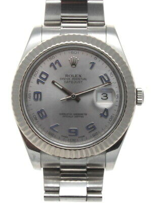 $ CDN12667.29 • Buy Rolex Datejust II 18k White Gold & Steel 41mm Watch Arabic Dial 116334