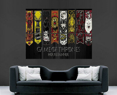 £17.99 • Buy Game Of Thrones Poster House Banner Wall Art Map Tv Series Image Huge Large