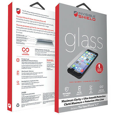 £7.95 • Buy GENUINE ZAGG INVISIBLESHIELD GLASS SCREEN PROTECTOR FOR APPLE IPHONE 6 & 6s 4.7