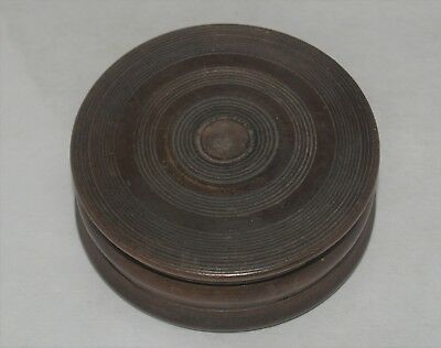 £57.91 • Buy Antique Treenware Turned Wood Wooden Snuff Box