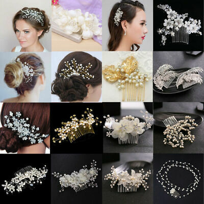 $2.79 • Buy Crystal Rhinestone Flower Wedding Bridal Hair Comb Hairpin Clip Accessories Gift