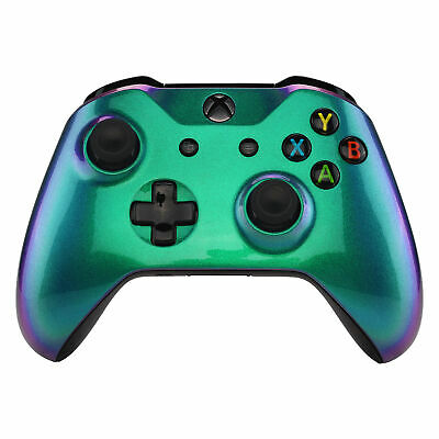 $16.99 • Buy Green Purple Chameleon Upper Shell Faceplate Cover For Xbox One S X Controller