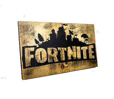Fortnite Canvas Wall Art Wood Framed Ready To Hang XXL Game, • 10£