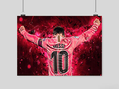 Lionel Messi Poster Soccer Football The Goat Barca Fc Barcelona A4 A3 Size • 10.95£