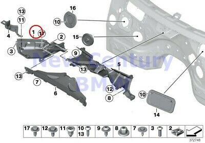 $82.56 • Buy BMW Genuine Mounting Parts Engine Compartment Left Engine Compartment Partition