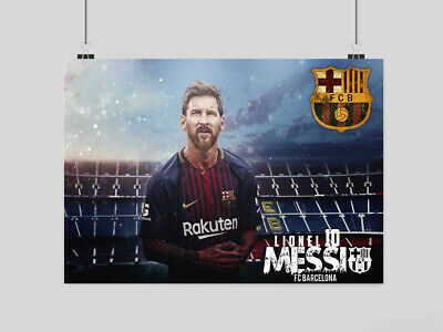 Lionel Messi Poster Print Soccer Fc Barcelona The Goat Football Club A3 A4 Size • 10.95£