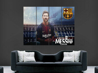 Lionel Messi Poster Print Soccer Fc Barcelona The Goat Football Club Art Large • 17.99£