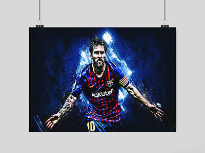 Lionel Messi Poster Print Fc Barcelona Fc The Goat Football  A3 A4 Size • 6.95£