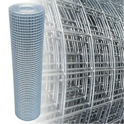 Welded Wire Mesh 25mx1m/82ftx3.2ft Galvanised Fence Aviary Rabbit Hutch Chicken  • 79.90£