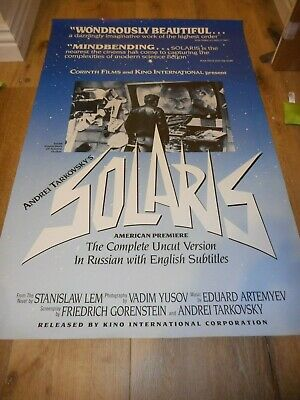 $60 • Buy Solaris - Original Single-sided Rolled 1990 Re-release Poster - Tarkovsky