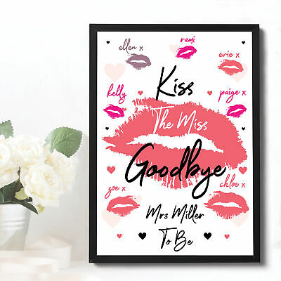Hen Party Game Accessories Bride To Be Kiss The Miss Goodbye Do Gifts Keepsake • 2.95£