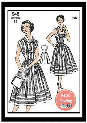 1950s Sun Dress And Jacket Vintage Sewing Pattern Bust 36 - Rockabilly • 18.99£
