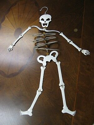 $ CDN91.91 • Buy Vintage Halloween Skeleton Made Of Metal With Reflective Glass 24 Inches