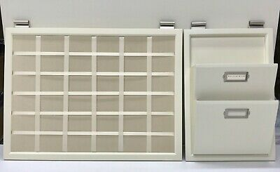 $89.99 • Buy NEW IN BOX Pottery Barn Daily System Linen Pinboard & Letter Bin~CREAMY WHITE