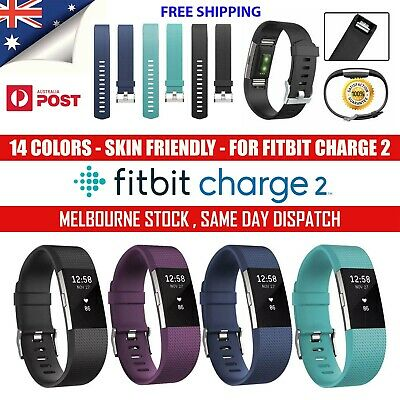 AU5.81 • Buy Fitbit Charge 2 Silicone Band Replacement Wristband Watch Strap Bracelet AU Lot