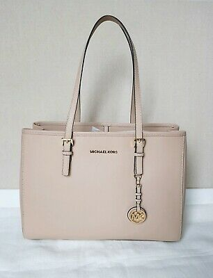 90e934848c1e NWT Michael Kors Jet Set Travel Large Leather Tote Oyster Handbag Purse  $278 • 130.00$