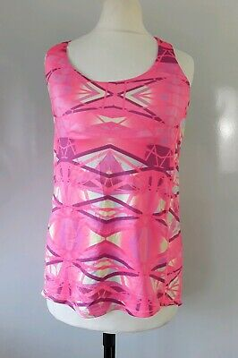 AU16.21 • Buy Women's Yoga Top Size XS Pink Padded Supported Bra Queenie Ke