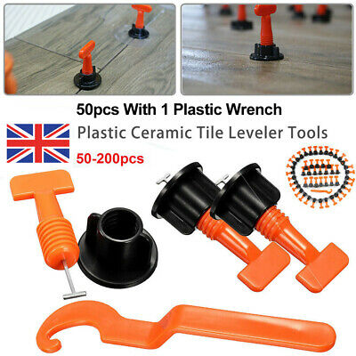 50-200Pcs Floor Ceramic Wall Construction Reusable Tile Leveling System Tool Kit • 11.59£