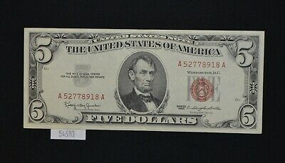 $ CDN38.26 • Buy West Point Coins ~ 1963 UNC $5 Red Seal United States Notes
