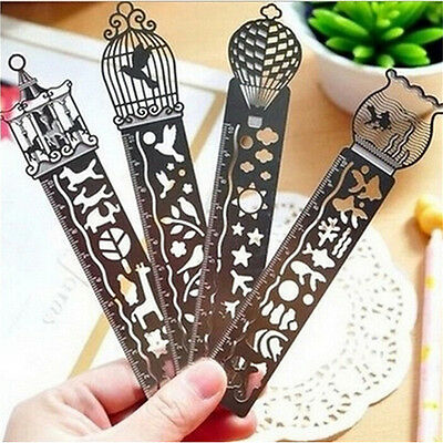 AU1.71 • Buy 4 Colour Stainless Steel Pocket Rulers Metric Engraved Scale As Bookmark New SE