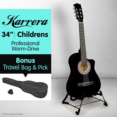 AU59 • Buy NEW Karrera CHILDRENS ACOUSTIC GUITAR IDEAL KIDS GIFT 1/2 Size Black Picks Bag