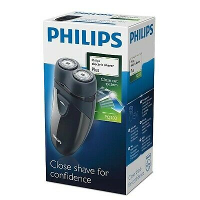 Philips PQ203 Battery Operated Twin Floating Head Mens Foil Shaver - Black - New • 23.73£
