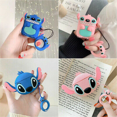 $ CDN4.87 • Buy Lilo & Stitch Pendant Strap Earphone Case Cover For Apple Airpods 1/2 Charging