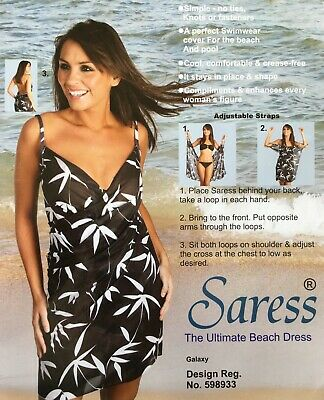 Saress The Ultimate Beach Dress Uk 8 10 Cover Up Swim Wrap Sarong Kaftan Galaxy • 5.99£
