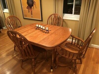 Solid Oak Extendable Dining Table And Chairs Richardson Brothers 689 00