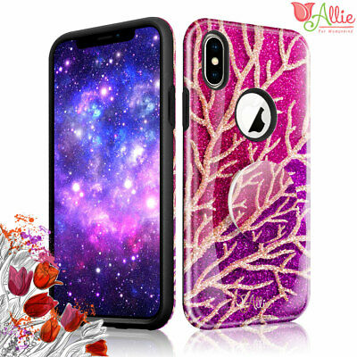 AU9.34 • Buy For Apple IPhone 7 Plus Xs Max [BLING CORAL] Pattern Stick Stand Case For Girls