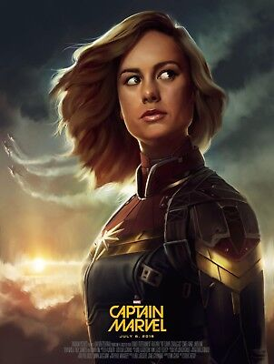 Captain Marvel - Comic Book 2019 Movie Art Large Poster / Canvas Pictures • 21.99£