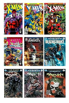 Marvel And DC Comic Book Covers - Cartoon Superheroes Art Canvas Pictures 24x32  • 25.99£