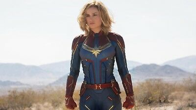 Captain Marvel - Comic Book Movie 2019 Art Large Poster / Canvas Pictures • 21.99£