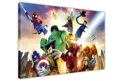 £24.99 • Buy Lego Marvel Pose Canvas Pictures Wall Art Prints Fantastic 4 Avengers Posters