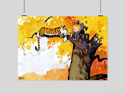 Calvin And Hobbes Poster Cartoon A3 A4 Size • 10.95£