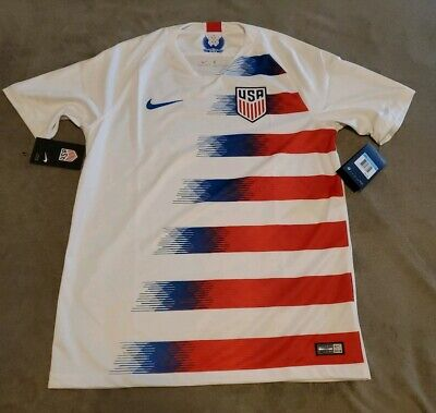 6220678ea83 Nike USA Soccer USMNT 2018 Home Jersey SZ Med 100% Authentic BNWT • 69.99$