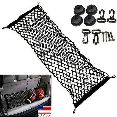 $15.29 • Buy Car Accessories New Universal Auto Rear Trunk Cargo Net Mesh Storage Organizer