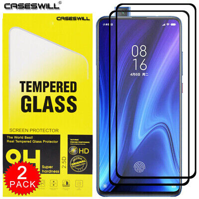 $3.98 • Buy For Xiaomi Mi 9T / 9T Pro FULL COVER Tempered Glass Screen Protector [2-Pack]