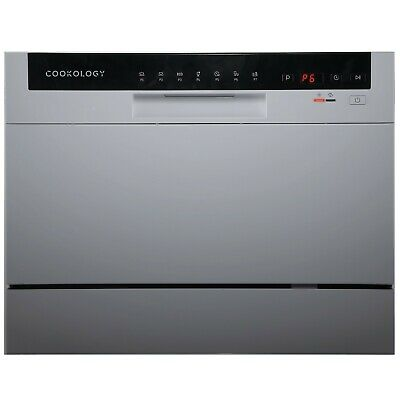 View Details Cookology CTTD6SL Silver Table Top Dishwasher, 6 Place Settings, Mini Countertop • 209.99£