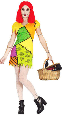 £14.99 • Buy Ladies Sally Rag Doll Costume Halloween Fancy Dress Outfit 8-10-12-14 NEW