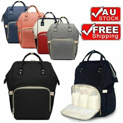 AU24.99 • Buy Waterproof Large Mummy Nappy Diaper Bag Baby Travel Changing Backpack AU Stock