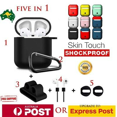 AU18.60 • Buy Strap Holder & Silicone Case Cover Skin For Apple Airpod Accessories Airpods