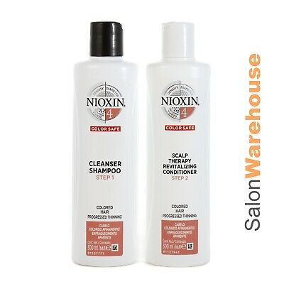 AU53.95 • Buy Nioxin System 4 Cleanser Sham + Scalp Conditioner - Duo  Pack 300ml New Packing