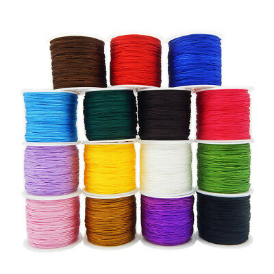 £2.22 • Buy 0.8mm Fine Nylon String Thread Line Chinese Knot Macrame Braided Cord Crafts 45M
